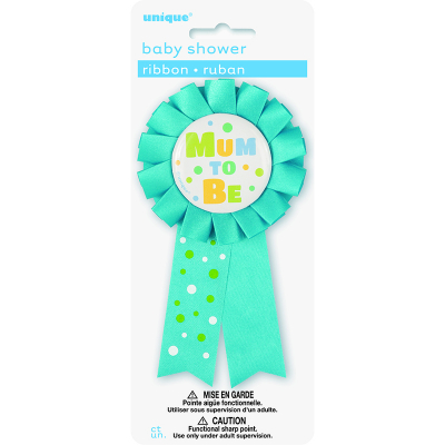 Mum To Be Award Ribbon - Blue