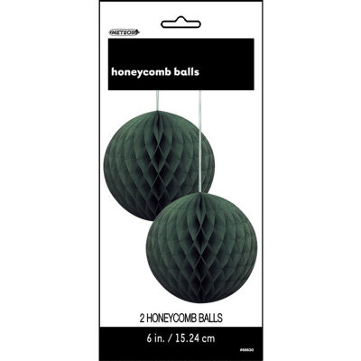 Hanging Honeycomb Balls 15cm Black 2PK