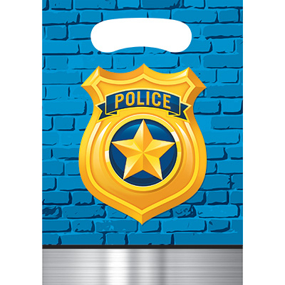 Police Party Loot Bags 8PK