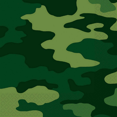 Camouflage Lunch Napkins 16PK