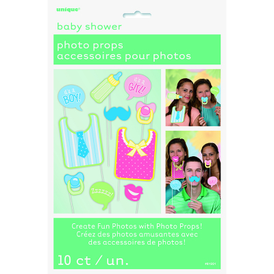 Photo Prop Baby Shower Booth Game 10PK