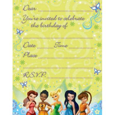 Disney Fairies Invitations 8PK