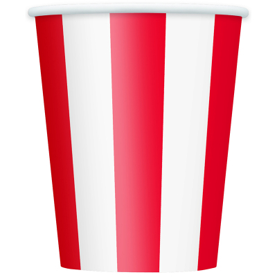 Stripes Red Cups 6PK