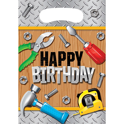 Handyman Tools Loot Bags Happy Birthday 8PK