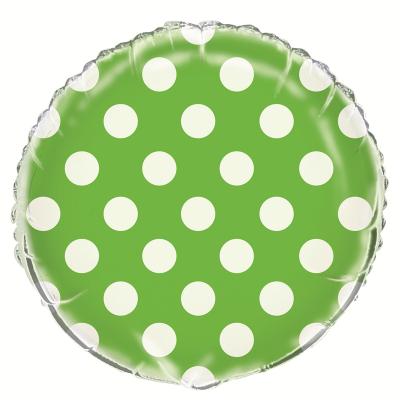 Polka Dots Lime Green Foil Balloon