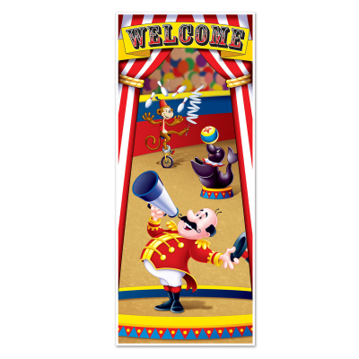 Circus Tent Welcome Door Cover