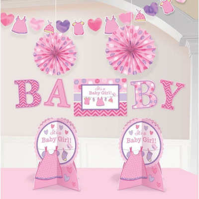 Shower with Love Girl Room Decorations Kit 10PK