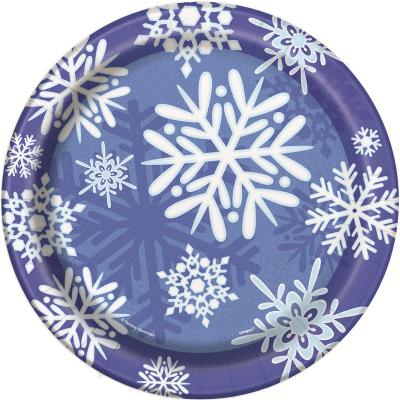Snowflake 23cm Paper Plates 8PK