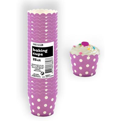 Polka Dots Baking Cups Pretty Purple 25PK