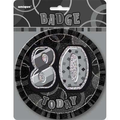 Glitz Birthday Black Badge 80th