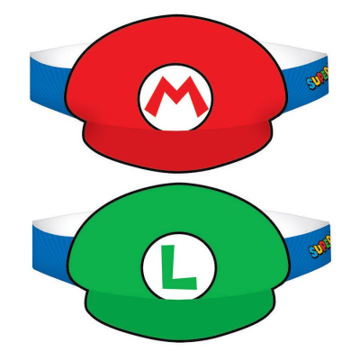 Super Mario Brothers Paper Hat 8PK