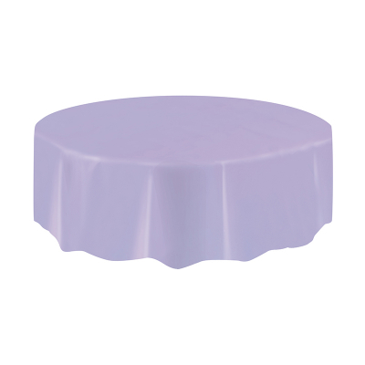Round Plastic Tablecover Lavender