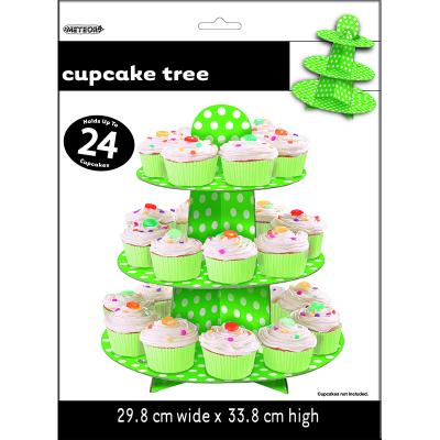 Polka Dots Cupcake Tree Lime Green