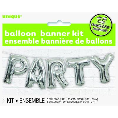 "Party 14"" Letter Foil Balloon Kit 5PK"