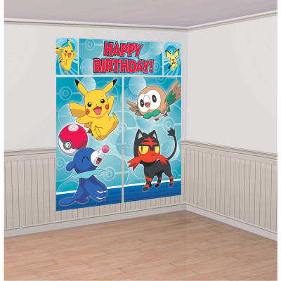 Pokemon Core Scene Setter Wall Decortaion Kit 5PK