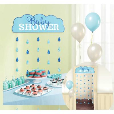 Baby Shower Blue Door Curtain