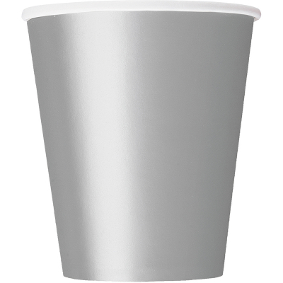 Paper Cups - Silver 8PK