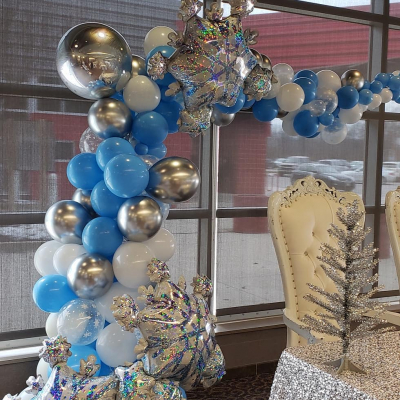 Organic Half Arch ( with Confetti Balloon , Chrome or Marble Balloon & Foil Ball Balloon)