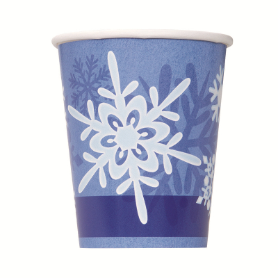 Snowflake Paper Cups 270ml 8PK