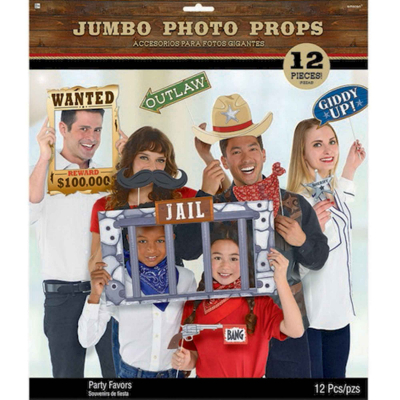 Western Jumbo Photo Prop Kit 12PK