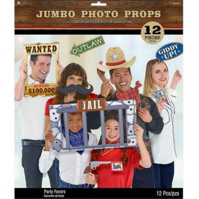 Western Jumbo Photo Prop Kit 12PK