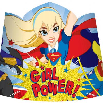 DC Superhero Girls Paper Tiaras 8PK