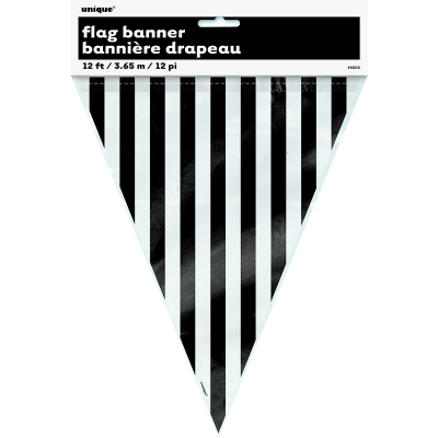 Stripes Flag Banner Black 12PK