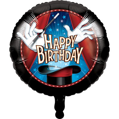Magic Party Happy Birthday 45cm Foil Balloon