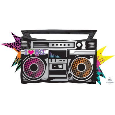 Totally 80`s SuperShape Boombox Foil Balloon