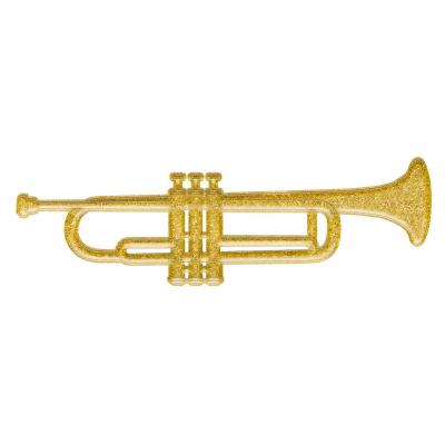 Trumpet 3D Plastic Decoration Glittered