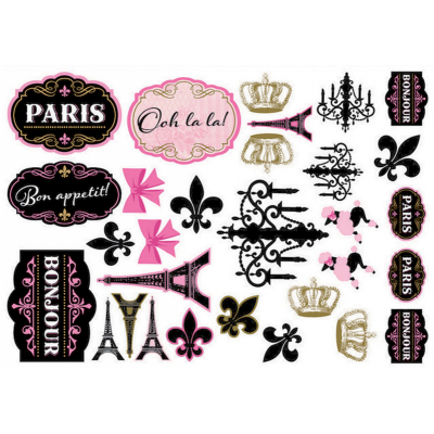 Day In Paris Mega Value Pack Cutouts 30PK