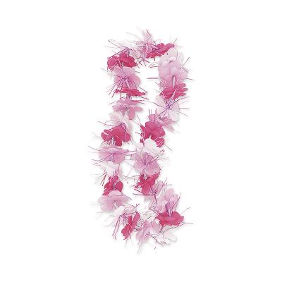 Luau Dazzle Lei Pink White