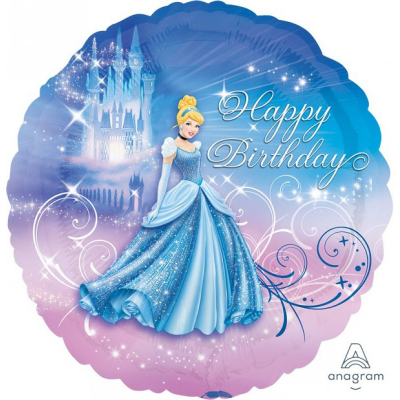 Cinderella 45cm Standard Foil Balloon Happy Birthday