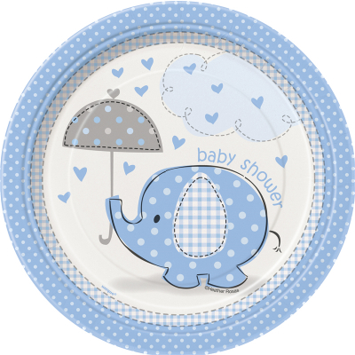 Umbrellaphants Blue 18cm Plates 8PK