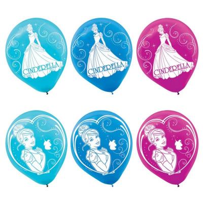 Cinderella 30cm Latex Balloons 6PK