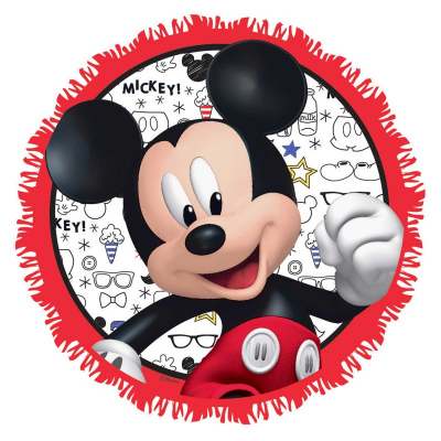 Mickey Mouse On The Go Pull String Pinata