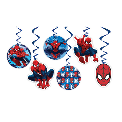 Spiderman Hanging Decorations 6PK