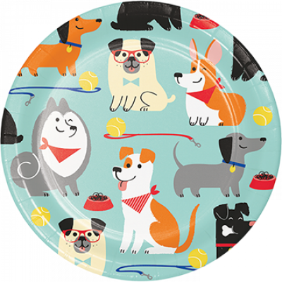 Dog Party Lunch Plates 8PK