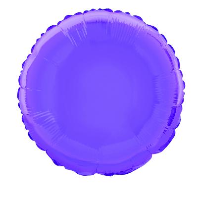 Round 45cm Foil Balloon Purple