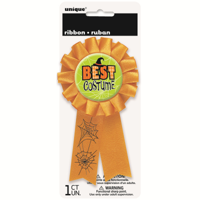 Best Costume Award Ribbon Halloween