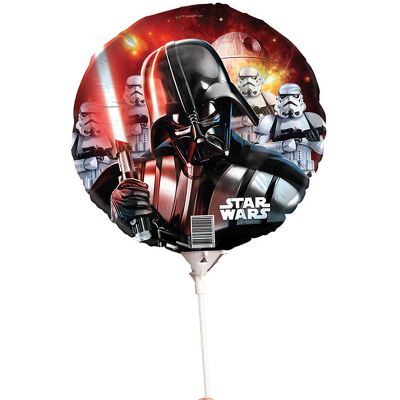 Star Wars Foil Balloon On Stick Darth