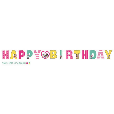 Minnie Mouse Happy Helpers Jumbo Add-An-Age Letter Banner