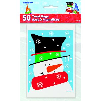 Snowman Buddies Treat Bags 50PK