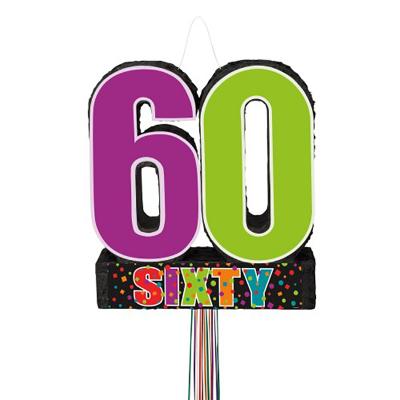 Pinata Birthday Day 60th Pull String
