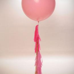 90cm Plain Colour Premium Latex Balloon with Helium & Weight & Tassel