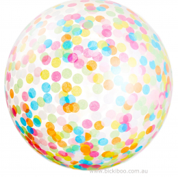 Plain Colour & Confetti Helium Balloon ( Loose )