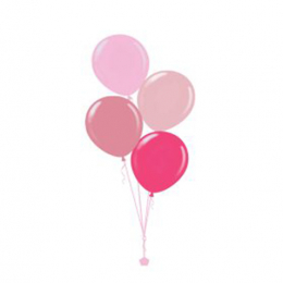 Plain Colour Helium Balloon Bouquests 4 Balloons