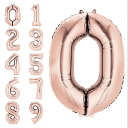 Large Number Foil Balloon ( Uninflated )
