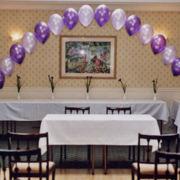 Regular String of Pearls Helium Balloon Arch