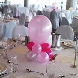 Table Posie Air Filled Plain Colour Balloon